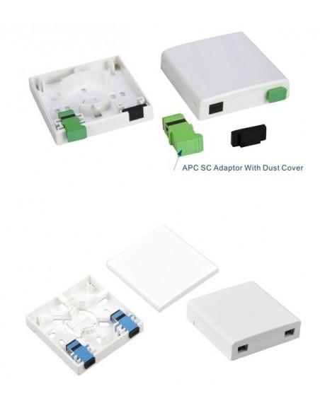 Caja de F.O. con 2 adaptadores SCAPC SM 2