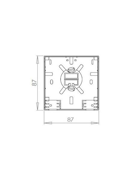 Caja de F.O. con 2 adaptadores SCAPC SM 4