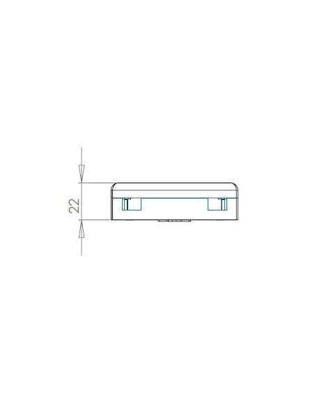 Caja de F.O. con 2 adaptadores SCAPC SM 5