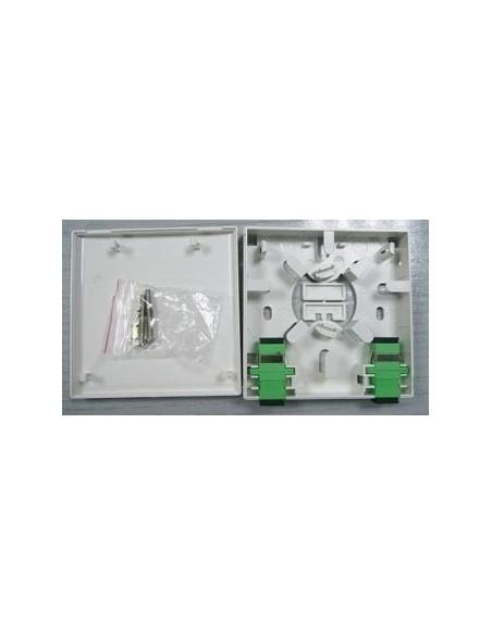 Caja de FO. para 2 adaptadores SC Simplex 3