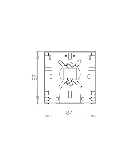 Caja de FO. para 2 adaptadores SC Simplex 5