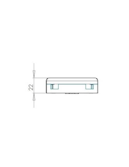 Caja de FO. para 2 adaptadores SC Simplex 6