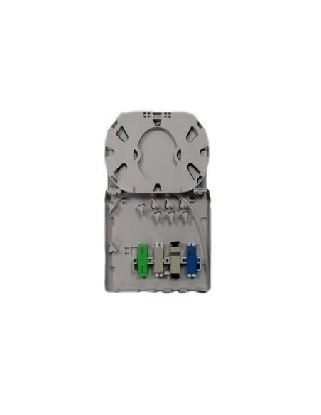 Caja de F.O. para 4 adaptadores SC Simplex  LC Duplex 3