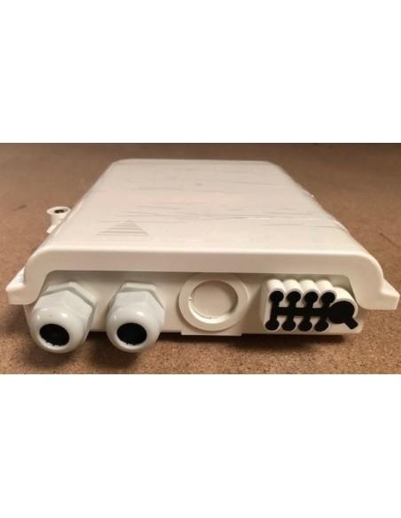 Caja F.O. de Exterior IP-65 para 8 adaptadores SC Simplex 1