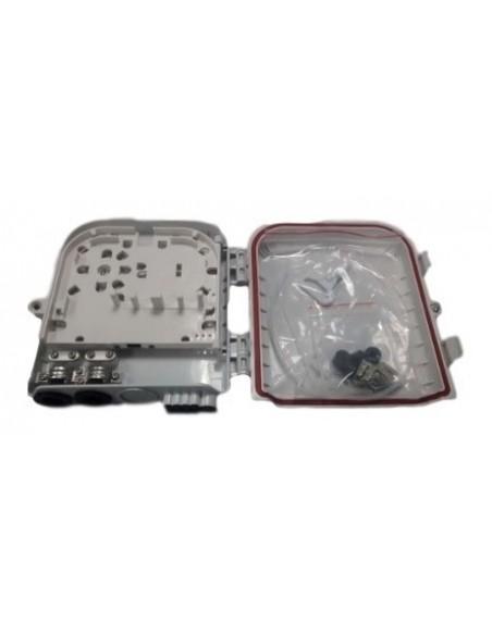 Caja F.O. de Exterior IP-65 para 8 adaptadores SC Simplex 2