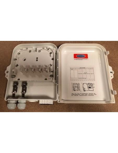 Caja F.O. de Exterior IP-65 para 8 adaptadores SC Simplex 3