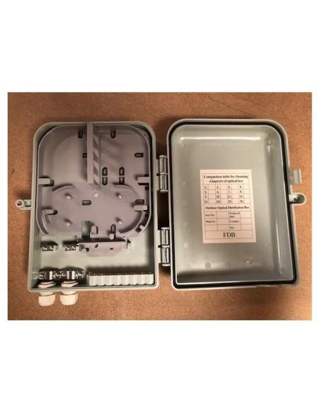 Caja F.O. de Exterior IP-65 para 16 adaptadores SC Simplex 4