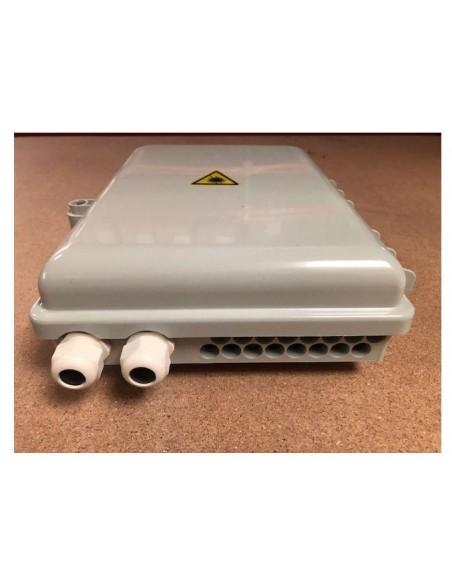 Caja F.O. de Exterior IP-65 para 16 adaptadores SC Simplex 5