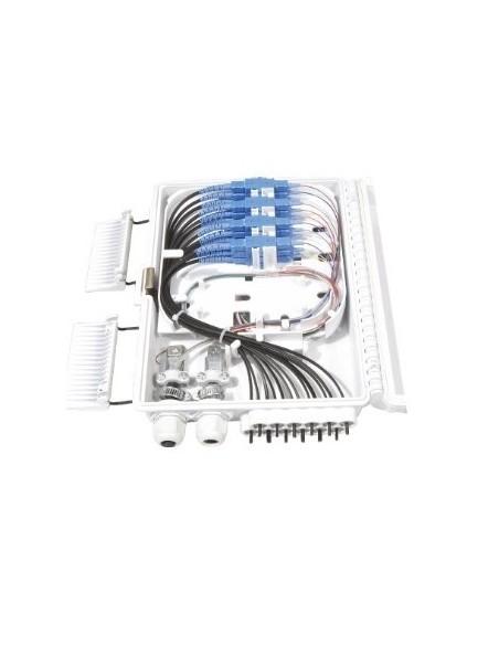 Caja F.O. de Exterior IP-65 CON LLAVE para 12 adaptadores SC Simplex - LC Duplex 3
