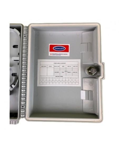 Caja F.O. de Exterior IP-65 CON LLAVE para 12 adaptadores SC Simplex - LC Duplex 5