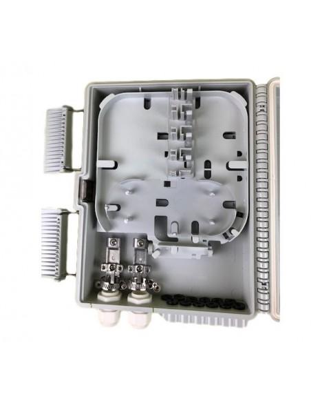 Caja F.O. de Exterior IP-65 CON LLAVE para 12 adaptadores SC Simplex - LC Duplex 8