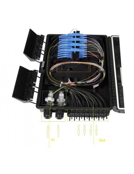 Caja F.O. de Exterior IP-65 CON LLAVE para 16 adaptadores SC Simplex  LC Duplex 3