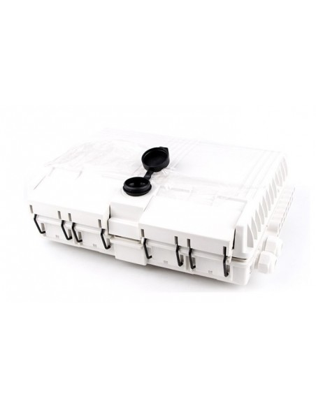 Caja F.O. de Exterior IP-65 CON LLAVE para 16 adaptadores SC Simplex  LC Duplex 4