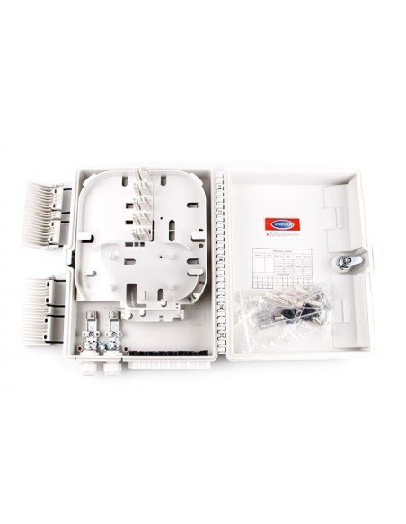 Caja F.O. de Exterior IP-65 CON LLAVE para 16 adaptadores SC Simplex  LC Duplex 5