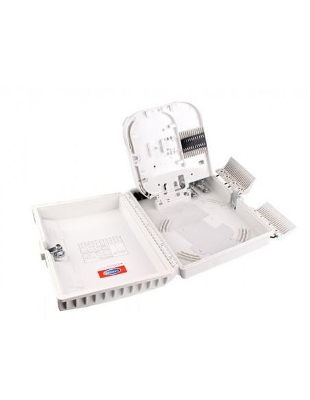 Caja F.O. de Exterior IP-65 CON LLAVE para 16 adaptadores SC Simplex  LC Duplex 6