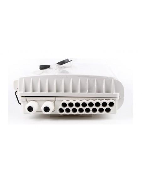 Caja F.O. de Exterior IP-65 CON LLAVE para 16 adaptadores SC Simplex  LC Duplex 7