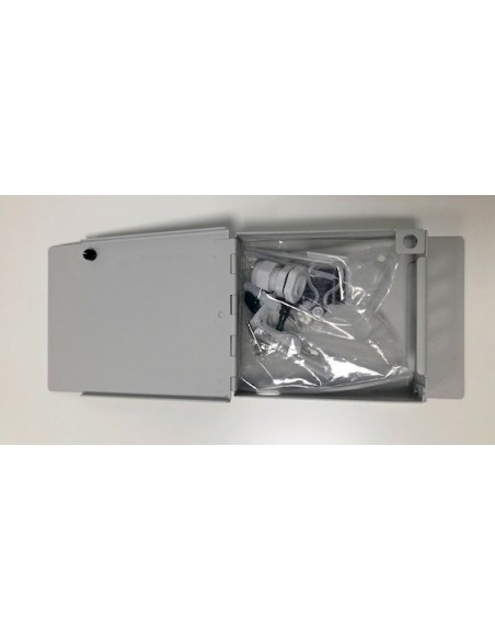 Caja mural metálica de fibra óptica para 4 ST Simplex 3