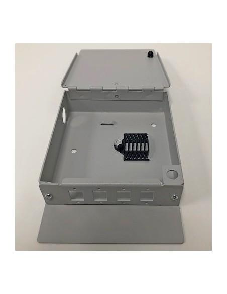 Caja mural metálica de fibra óptica para 4 ST Simplex 4
