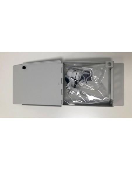 Caja mural metálica de fibra óptica para 8 ST Simplex 3