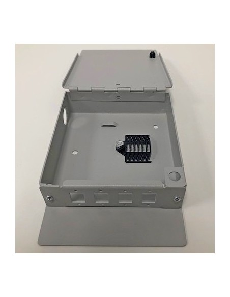 Caja mural metálica de fibra óptica para 8 ST Simplex 4