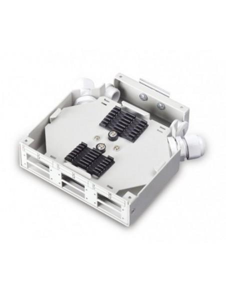 Caja metálica para carril Din para 6 tomas SC DUPLEX 3