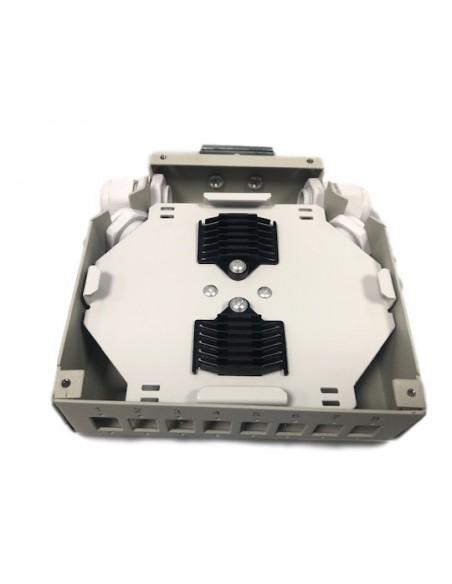 Caja metálica para carril Din para 8 tomas SC SIMPLEX - LC DUPLEX 3