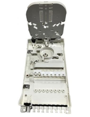 Caja F.O. de distribución y empalme para 8 SC Simplex - LC Duplex 1
