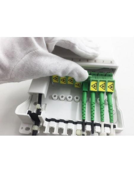 Caja F.O. de distribución y empalme para 8 SC Simplex - LC Duplex 3
