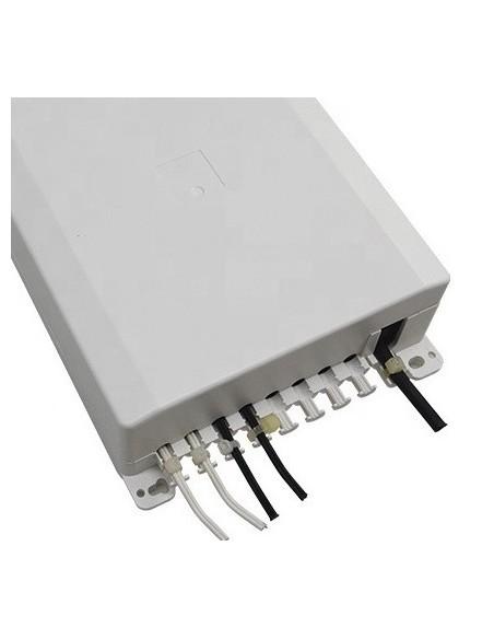 Caja F.O. de distribución y empalme para 8 SC Simplex - LC Duplex 4