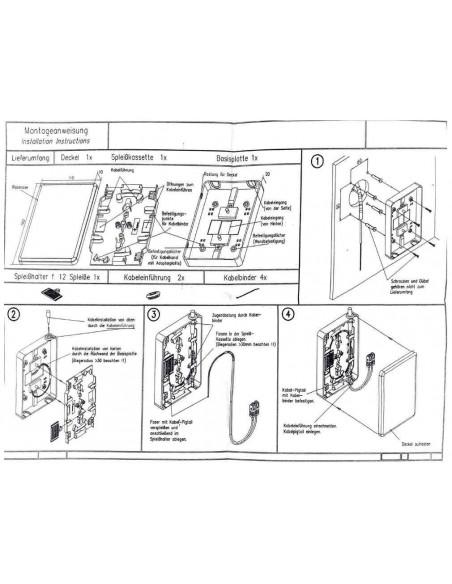 Caja de empalme de F.O. para 12 fusiones y derivación FTTH 4