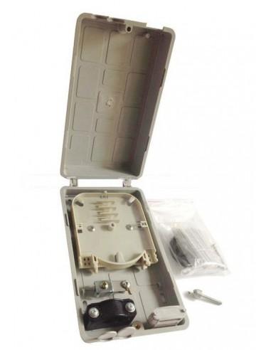Caja de empalme de Fibra Óptica para 12 fusiones y derivación FTTH 1