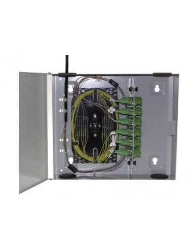 Caja F.O. de distribución y empalme para 12 SC Simplex - LC Duplex 1