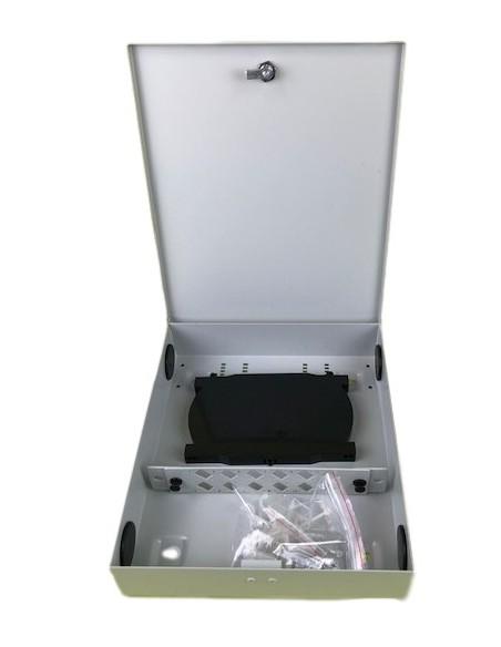Caja F.O. de distribución y empalme para 12 SC Simplex - LC Duplex 2