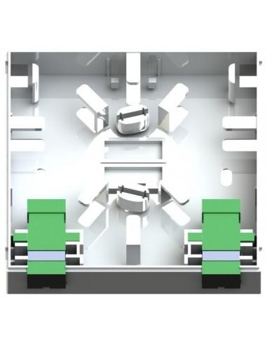 Caja de F.O. con 2 adaptadores SCAPC SM 1