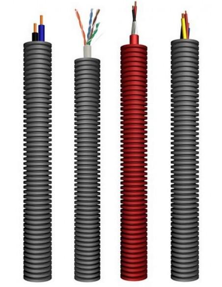 Cables en tubo corrugado